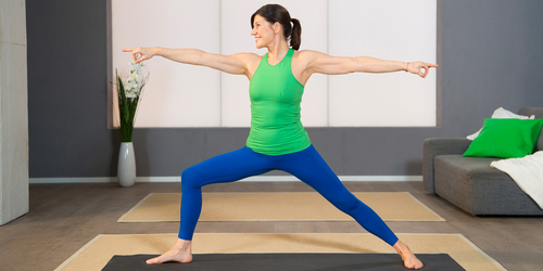Pilates Beckenboden-Übung 5: Die Heldin