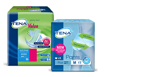 Sample pack of TENA products
