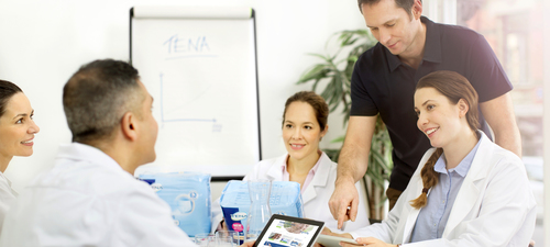 Image of Staff Meeting with TENA Rep - TENA Professional
