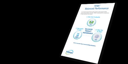 TENA Balanced Performance Mailer Image -  TENA professional