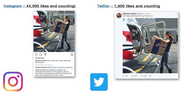 Image of Bethenny Frankel Loading TENA Products on Helicopter - TENA Professional