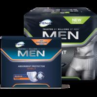 TENA Men Level 3 ja TENA Men Premium Fit Level 4