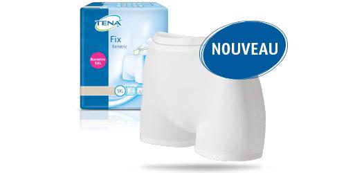 Photo du produit et du sachet TENA Fix Bariatrique