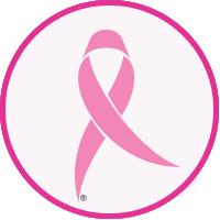 Rosa sløyfe som representerer søtte for brystkreft