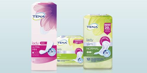 Упаковки продукции TENA Lady