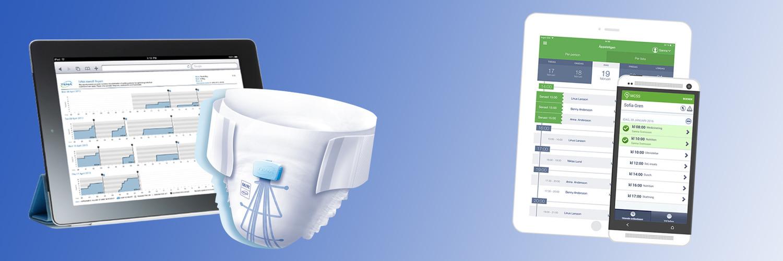 Bild på ett TENA identifiskydd tillsammans med Appvas digitala signeringsverktyg