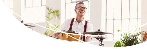 Mann med trommer