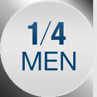En ud af fire mænd