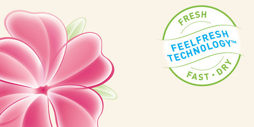 lights by TENA FeelFresh TechnologyTM Logo.