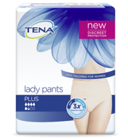 TENA Lady Pants Plus pack - Discreet security for active women with bladder weakness