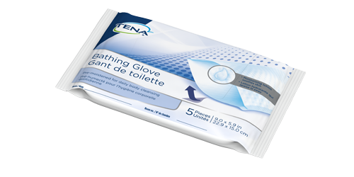 Image of TENA Bathing Glove Package
