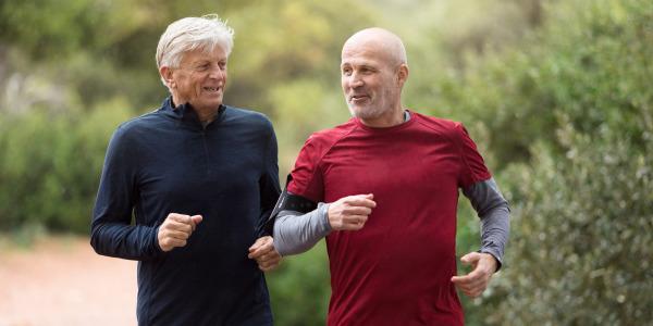 men running wearing tena men
