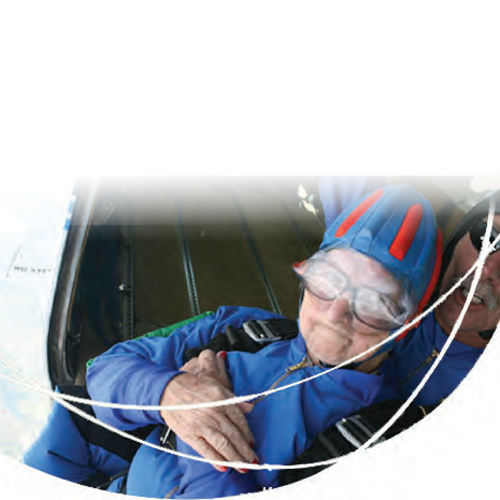 Image of Mollie with Skydiver - TENA Professional