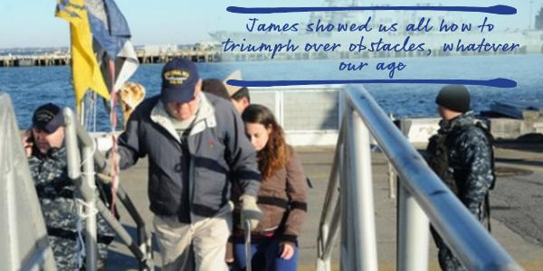 Image of James Salvatore Touring the USS Warner - TENA Professional