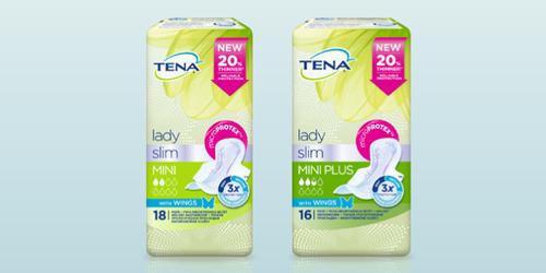 TENA Lady Slim izstrādājumu klāsts