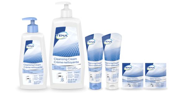 Image of TENA Cleansing Cream Line of Products - TENA Professional