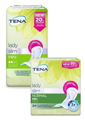 TENA Lady vložky pre ľahkú až strednú inkontinenciu