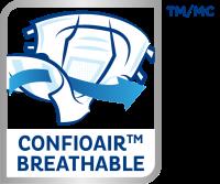 TENA ProSkin™ with ConfioAir® 100% Breathable Technology