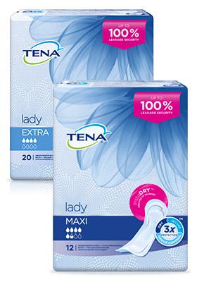 TENA Lady vložky pre strednú inkontinenciu