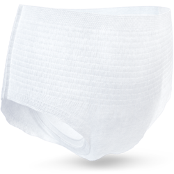 Fully breathable TENA Overnight Super absorbency protective underwear protects against heavy bladder leaks day and night,