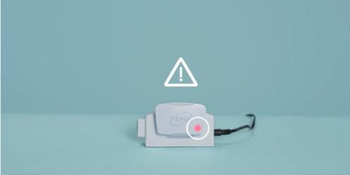Rött ljus betyder att loggern inte fungerar. Kontakta TENA Kundservice.