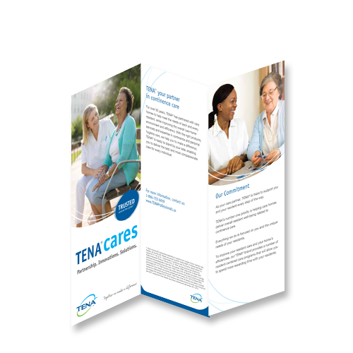 Image of TENA Cares Trifold Brochure