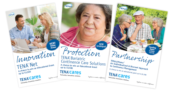 Image of Partnering with you to make a difference Educational Grant Winner and 4-part mailers - TENA Professional