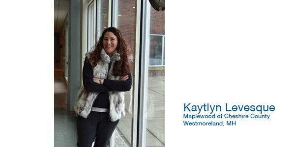 Image of Partnering With You To Make a Difference Educational Grant Winner Kaytlyn Levesque from Maplewood of Cheshire County in Westmoreland, NH
