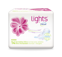 lights by TENA  Serviette Ultra Normal avec ailettes