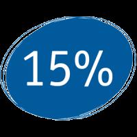 Infographic 15 percent - TENA Professional