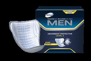 Paket saugfähiger Einlagen von TENA Men