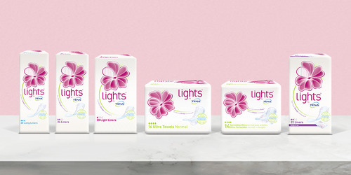 lights by TENA product range.