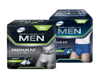 TENA Men Engångskalsong Active Fit & Premium Fit, storlek medium