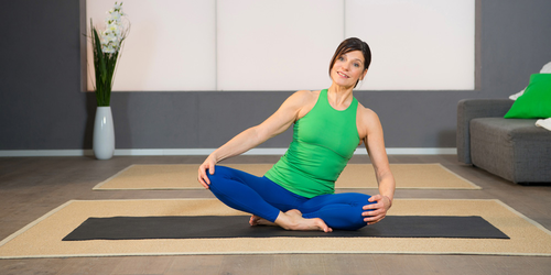 Pilates Beckenboden-Übung 3: Das Dreieck zur Beckenboden-Stärkung