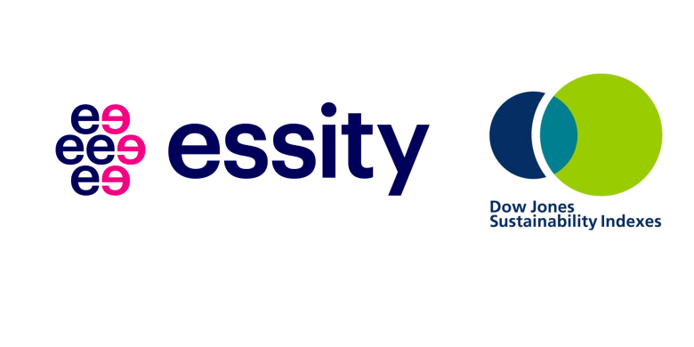 Image of Essity and Dow Jones Sustainability Indexes Logos - TENA Professional