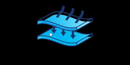 Image of TENA Complete +Care Innovative DuoLock™ Core Technology Illustration - TENA Professional