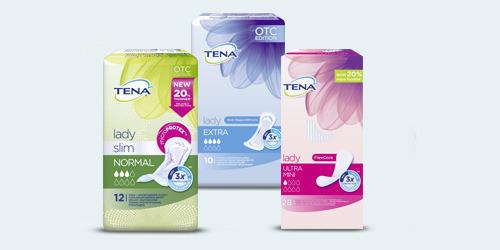 Gama produktów dla kobiet TENA