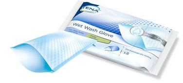 Gant de toilette imprégné TENA Wet wash glove