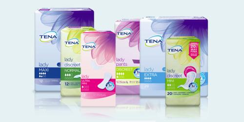 Gama de productos TENA para mujeres