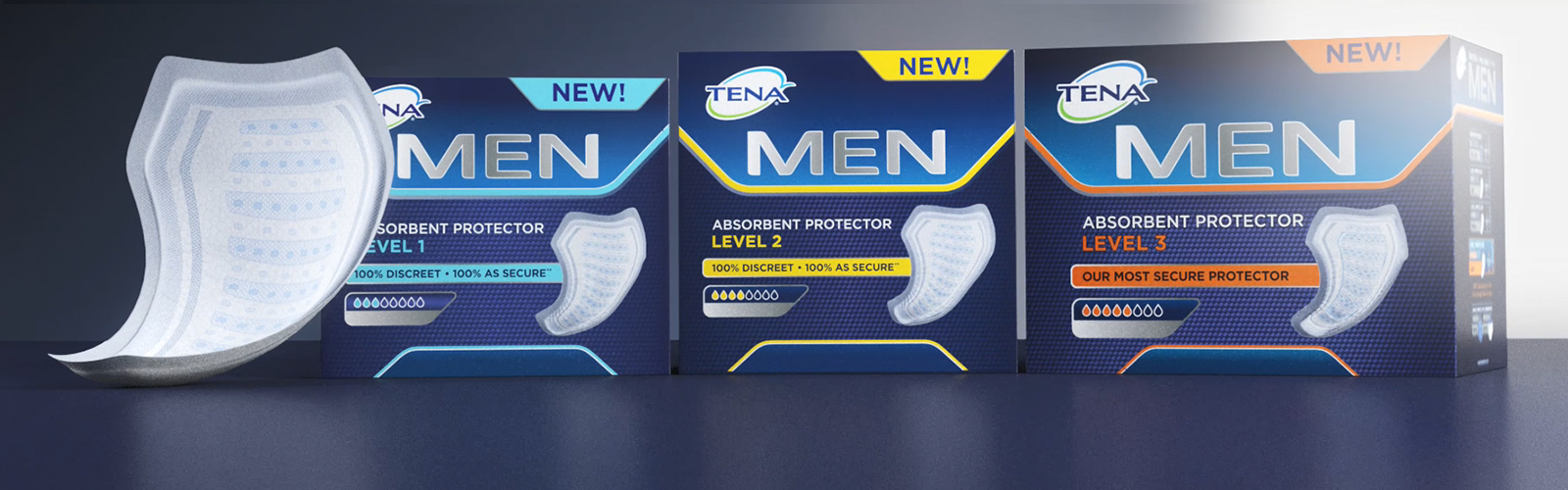 Specially designed male incontinence pads for urine leakage