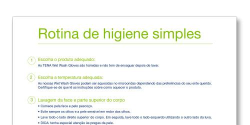 Imagem do modelo Rotina de Higiene Simples da TENA Cuidadores