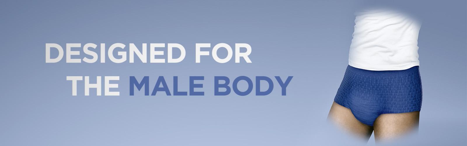 TENA Men Active Fit Absorberande Engångskalsong, en produkt särskilt utformad för män