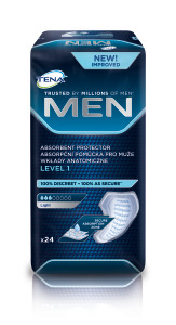 TENA Men Level 1 24pcs Bag, Int. East.psd