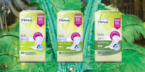 Ассортимент продукції TENA Lady Slim