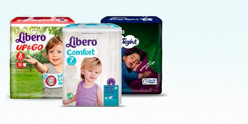 Uma fotografia de três produtos para incontinência da gama TENApara crianças